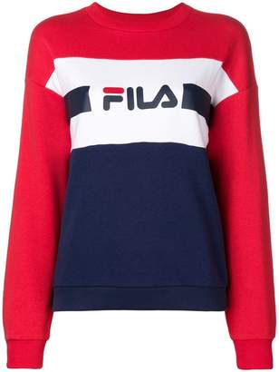 Fila colour block logo sweatshirt