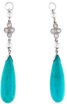 Jude Frances 18K Pearl, Turquoise & Diamond Earring Jackets