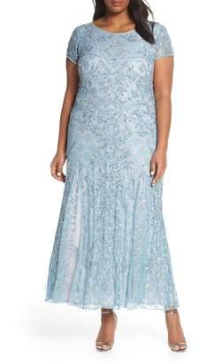 Pisarro Nights Embellished Lace A-Line Dress