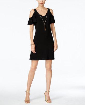 MSK Cold-Shoulder Tassel Necklace Dress $69 thestylecure.com