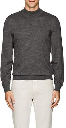 Luciano Barbera Men's Wool Mock-Turtleneck Sweater