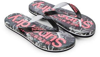 Superdry Marbled Black & Pink AOP Flip Flops