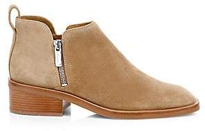 3.1 Phillip Lim Women's Alexa Suede Stacked-Heel Ankle Boots