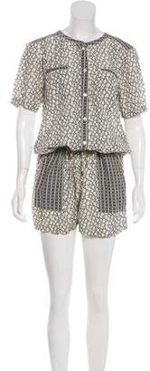 Maison Scotch Printed Short Sleeve Romper