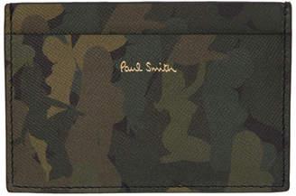 Paul Smith Khaki Camo Naked Lady Card Holder