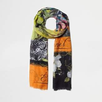 River Island Womens Black floral mixed print lightweight scarf