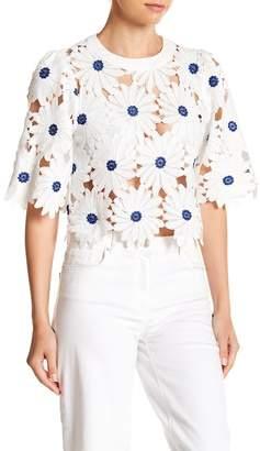 Gracia Floral Eyelet Lace Shirt