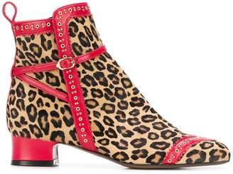 L'Autre Chose leopard pattern ankle boots