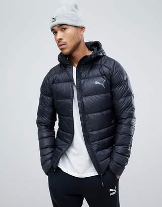 Puma packable hooded jacket in black 85162101