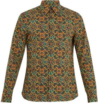 Prada Single-cuff psychedelic-print cotton shirt