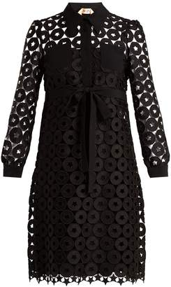 No.21 NO. 21 Embroidered-lace shirtdress