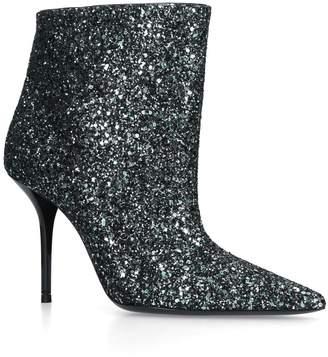 Saint Laurent Glitter Pierre Ankle Boots 95