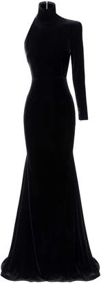 Alex Perry Harlyn Velvet Single Sleeve Gown
