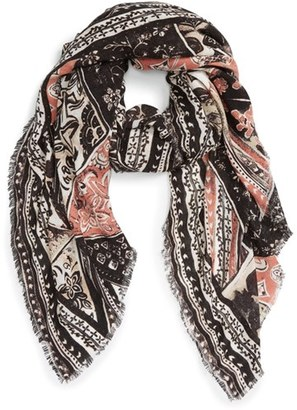 Hinge 'Tapestry Patchwork' Scarf $39 thestylecure.com