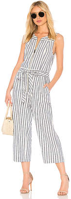 Splendid Linen Blend Stripe Jumpsuit