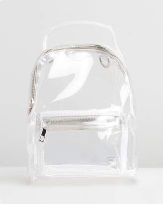 Missguided Transparent Mini Backpack