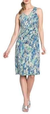 Nic+Zoe Sleeveless Mirage Twist Knee-Length Dress
