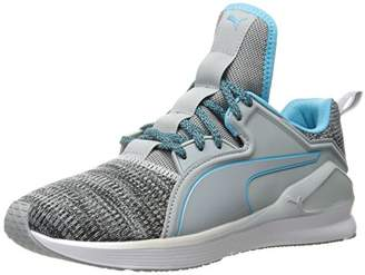 7bc1b505d86a Puma Women s Fierce LACE Knit WN s Cross-Trainer Shoe Safety Yellow White