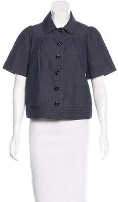 See by Chloe Short Sleeve Button-Up Jacket