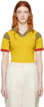 Proenza Schouler Yellow Knit Terry Polo
