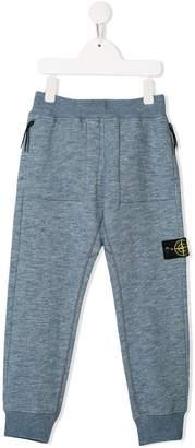 Stone Island Junior logo patch track pants