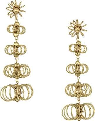 """Kenneth Jay Lane Women's 3"""" Open Wire Flowers Post Earrings"""