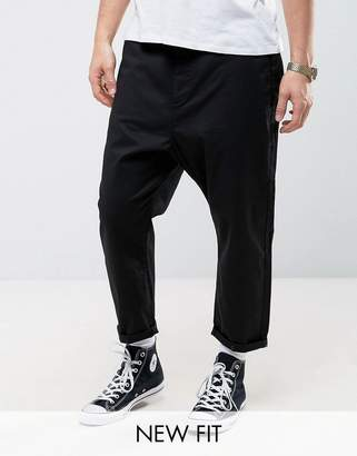 Asos Design Oversized Tapered Chino in Black