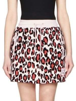 Kenzo Leopard-Print Mini Skirt