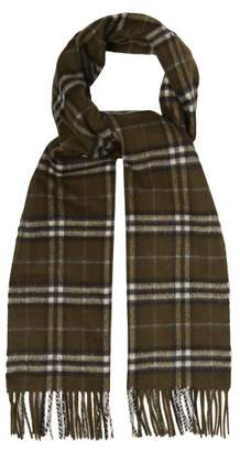 Burberry Vintage Check Cashmere Scarf - Mens - Brown