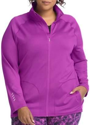 Hanes Just My Size Active Full Zip Mock Neck Jacket