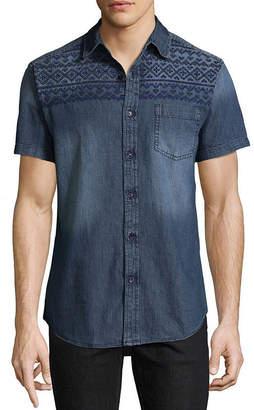 Decree Short Sleeve Tie Dye Button-Front Shirt