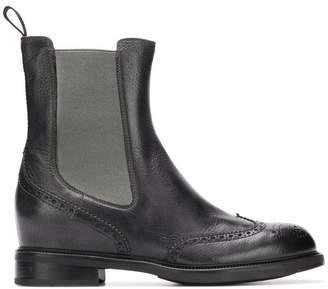 Santoni ankle brogue boots