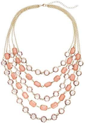 Loli Bijoux LOLI BIJOUX Breast Cancer Awareness Pink Layered Necklace