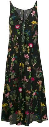 No.21 floral drop-waist dress