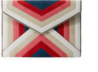 Rebecca Minkoff Leo Chevron Envelope Clutch Bag