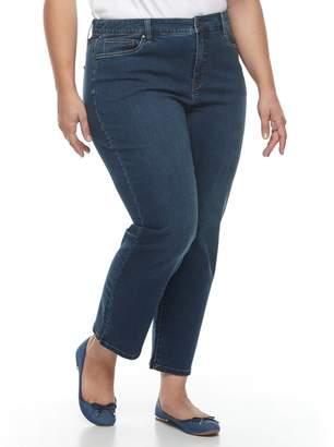 Croft & Barrow Plus Size Vented Ankle Jeans