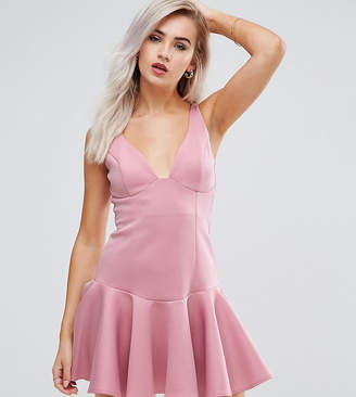 Asos Flippy Hem Mini Dress
