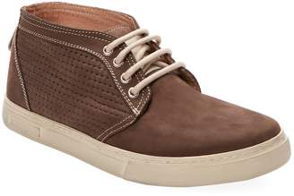 Russell Park Men's Leather Low Top Chukka Sneaker