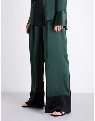 Michael Lo Sordo Wide-leg silk-satin trousers
