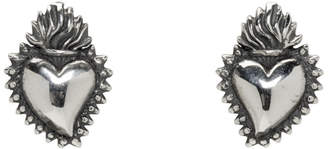 Ugo Cacciatori Silver Tiny Ex Voto Stud Earrings