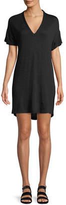 Rag & Bone Rosalind V-Neck Short-Sleeve Dress
