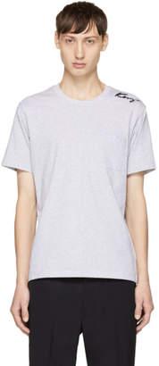 Kenzo Grey Small Signature Logo T-Shirt