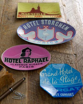 "John Derian Hotel Raphael"" Oval Tray"