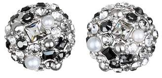 Karl Lagerfeld Scattered Swarovski Crystal Accented Ball Stud Earrings
