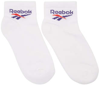 Reebok Classics Three-Pack White CL Lost Found Socks