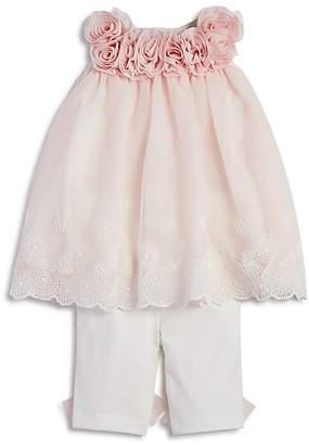 Miniclasix Girls' Lace Rosette Top & Leggings Set - Baby