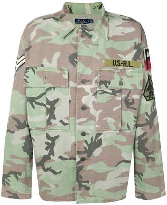 Polo Ralph Lauren camouflage print shirt