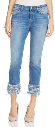 Mavi Jeans Kerry Fringed Ankle Jeans in Vintage