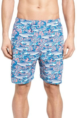 Men's Vineyard Vines Bonefish In Coral Print Swim Trunks $89.50 thestylecure.com