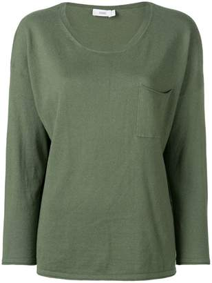 Closed chest pocket knitted top